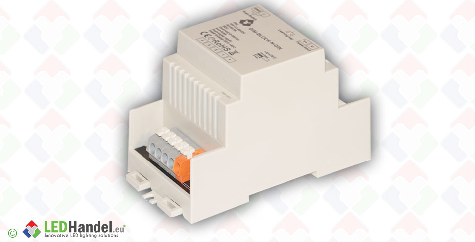 DIM-BLOCK-N-DIN for DIN RAIL installation - ©Voltron®