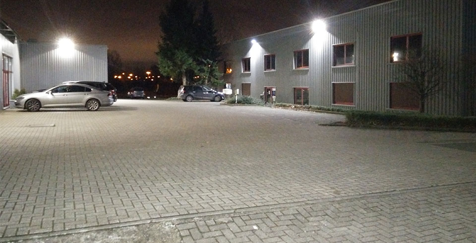 Ternat industrial zone secured with LED emitters. - ©Voltron®